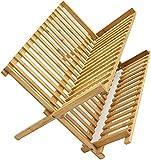 LEYENDAS ESCURREPLATOS. Escurridor de Platos con 2 Niveles de bambú Plegables...