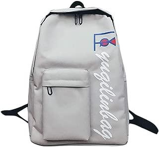 Unisex Oxford Letter Casual Backpack Outdoor Travel Backpack Student Bag Shoulder Bag Earphone Bag Travel Bag Great Capacity Backpack Satchel