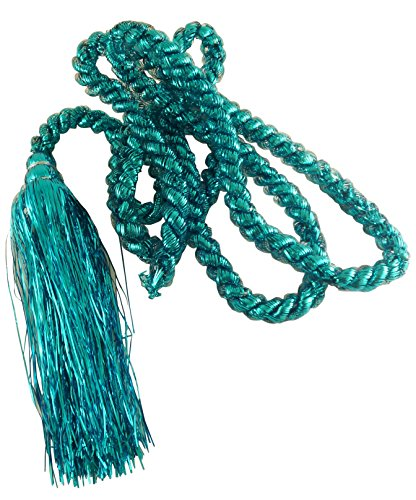 Toyland 2.75m Pastel Rope Garland With Tassels - Turquoise Blue - Christmas Decorations - Tinsel