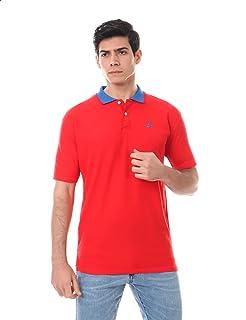 Andora Short Sleeves Contrast-Collar Embroidered Logo Polo Shirt for Men