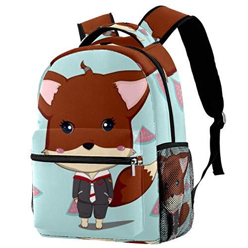 Sportswear Fox Travel Laptop Rucksack, Casual Durable Backpack Daypacks für Herren Damen für Arbeit Büro College Studenten Business Travel Schultasche Bookbag