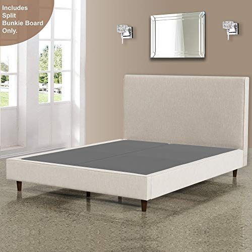 Mattress Solution 2-inch wood Foundation Bunkie Board, King, Grey