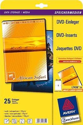 AVERY Zweckform DVD-Einleger VE=25 Stück