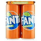 Fanta Original - Lattine, pacco da 4 x 330 ml