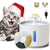 ADOV Cat Water Fountain, 2.4L Automatic Electric Pet Drinking Water Dispenser with LED