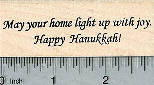 Happy Hanukkah Rubber Stamp, May Your Home Light up with Joy
