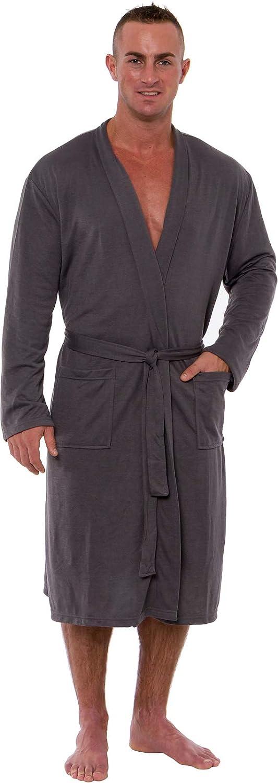 Ross Michaels Sale Mens Robe Lightweight Max 81% OFF Length Bathro Summer - Mid
