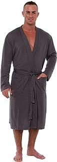 Men's Lightweight Robe - Luxury Knit Sleep Jersey Bathrobe w/Tie Waist