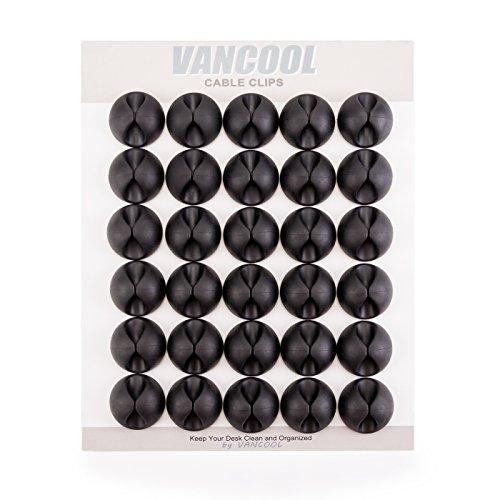 30 pezzi Clip a cavi con forte adesivo indietro, cavi e elettrodo organizzatore