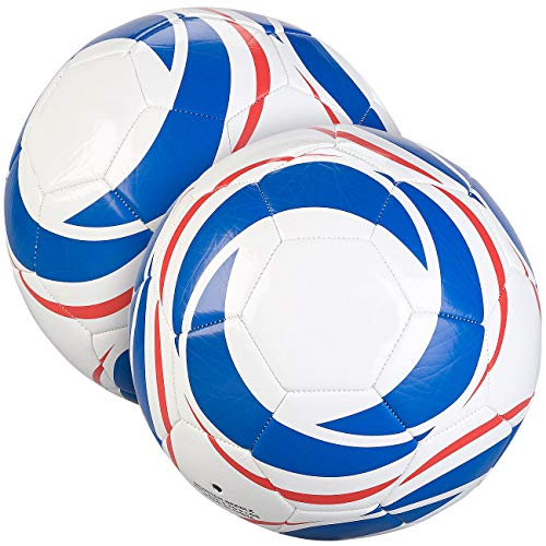 Speeron Freizeitball: 2er-Set Trainings-Fußbälle aus Kunstleder, 22 cm Ø, Größe 5, 440 g (Ball)