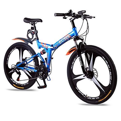 EUSIX X6 Vélo De Montagne pour Hommes Vélo Portable 21 Vitesse De Montagne Vélo 26 Pouces en...