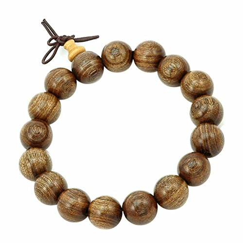 Mes-Bijoux-Bracelets Pulsera Charms Serpiente Joya Madera Preciosa 12mm Mujer Hombre Unisex Marrón Nudo Tibetano wz-B0529