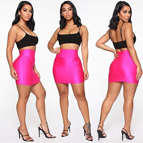 buenos comparativa LJLLINGA Mini falda lápiz sexy para mujer Falda ajustada elástica de cintura alta … y opiniones de 2021