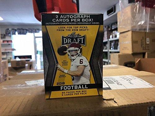 2018 Leaf Draft Football Factory Sealed Blaster Box