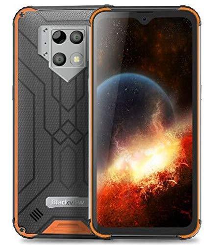 Blackview BV9800 pro赤外線カメラ用の世界初のスマートフォンRAM 6GB RAM 128GB Helio P70 Android9.0 IP68防水携帯電話 (オレンジ色)