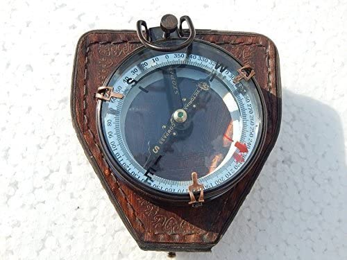 shaheera.nautical Excellence Antique Brass Compass Map S Double Reader At the price Lens