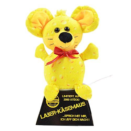 Laber–Formaggio Mouse Limited Edition, che ripete tutto (2.000rigorosamente da formaggio topi, con numero) Testa si muove in avanti e indietro Dimensioni: ca. 19x 16x 12cm Include 3X batterie AAA (Micro) Adatto anche per bambini sotto i 3anni
