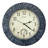 OCEST Large Wall Clock, 13 Inch Indoor Outdoor...