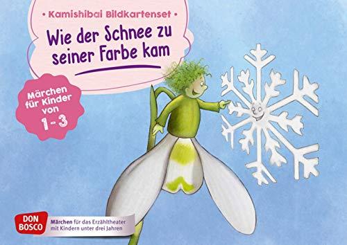 Wie der Schnee zu seiner Farbe kam. Kamishibai Bildkartenset. Märchen für Kinder von 1-3 (Märchen für das Erzähltheater mit Kindern unter drei Jahren)