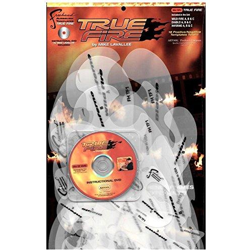 18 Stencils aerografo ARTOOL 'True Fire' con DVD by Mike Lavalle
