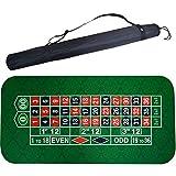 EYLIFE Estructura de Ruleta, Tapete para Ruleta, Alfombrilla de póker Antideslizante, Tapete Ruleta con Bolsa de Transporte