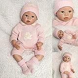 ZIYIUI Muñeca Reborn 55 cm 22 Pulgadas Bebe Reborn de Silicona Real Suave Vinilo Reborn Dolls Recién...