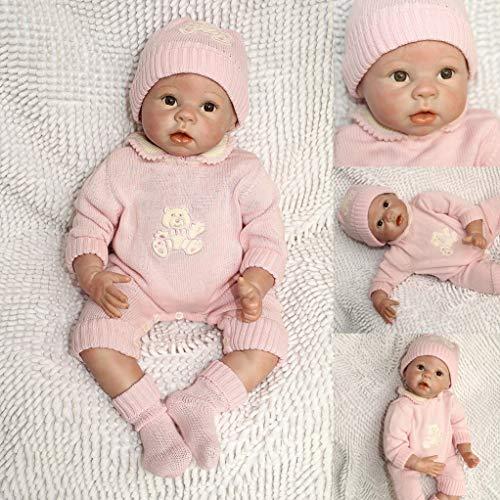 ZIYIUI Muñeca Reborn 55 cm 22 Pulgadas Bebe Reborn de Silicona Real Suave Vinilo Reborn Dolls Recién Nacido Bebé Reborn niñas Juguetes