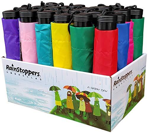 "RainStoppers W20F Assorted Display Umbrellas( 24 Piece), Multi, 42"""