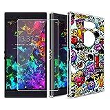 KJYF Caso Funda Silicona para RazerPhone2(5.72'), Cover Transparente TPU Carcasa Case + Anti-rasguños Protector de Pantalla Templado Cristal para RazerPhone2(5.72').[XS40]