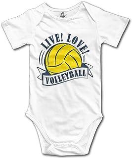 Unisex Baby's Love Volleyball Bodysuits Romper Light Onesies