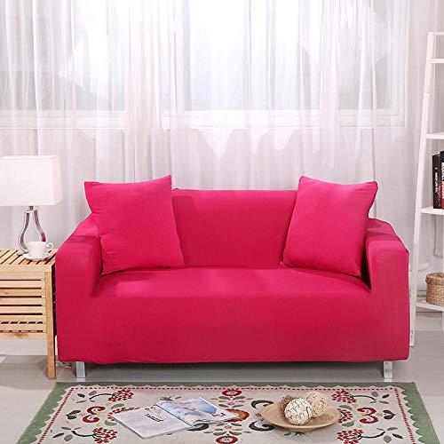 Fsogasilttlv Funda de Sofa Elasticas Rosa roja 1 Plaza, Funda de sofá elástica para Sala de Estar Funda de sofá elástica, Funda de sofá Protector de Muebles Four Seasons 90-140 cm 1 PCS