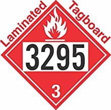 GC Labels-T309c3295, Flammable Class 3 UN3295 Tagboard DOT Placard, Package of 50 Placards