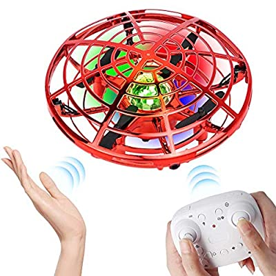 WALLE Drones for Kids Remote Control Flying Toys Mini Hand Drones Toy with Colorful LED Lights for Boys Girls (Blue)