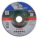 Bosch 5 Stück Trennscheibe (für Metall, Passend zu handgeführten Winkelschleifern mit einem Durchmesser der Trennscheiben von 125 mm, Zubehör Winkelschleifer)