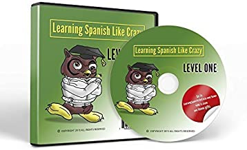 Learning Spanish Like Crazy Level 1 CDR - w/ Super Bonus Package - Learn Spanish & Speak Spanish - New & Improved for PC/Mac - Free Updates for 1 Yr