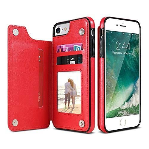 Carcasa de telefono Retro PU cuero caso de la tarjeta de múltiples casos los titulares de teléfono for el iPhone 6 7 8 Plus 6s 5S SE, iPhone X XS Max XR, Samsung S7 S8 S9 S10 for el iPhone XR Funda tr
