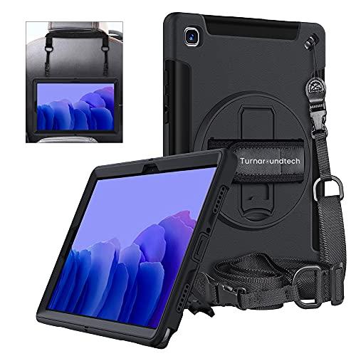 Funda Compatible con Samsung Galaxy Tab A7 10.4' 2020 T500 T505 T507 Proteccion Total 2 en 1 Soporte rotacion para Mano y Colgador para Hombro y reposacabezas Coche