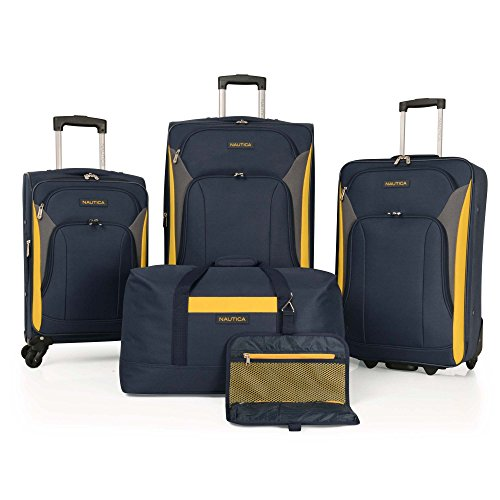 Find Bargain Nautica 5 Piece, Navy/yellow