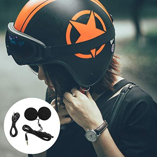 WINOMO 3.5 mm Klinkenstecker Stereo Motorrad Helm Lautsprecher Kopfhörer mit Volume-Steuerung für Handy MP3 GPS (Schwarz) - 9