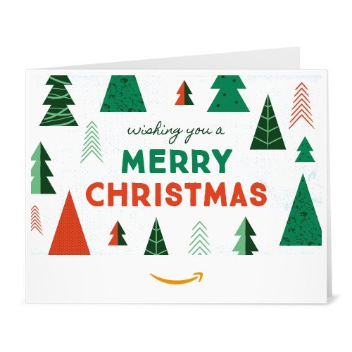 Amazon Gift Card - Print - Christmas Trees - http://coolthings.us