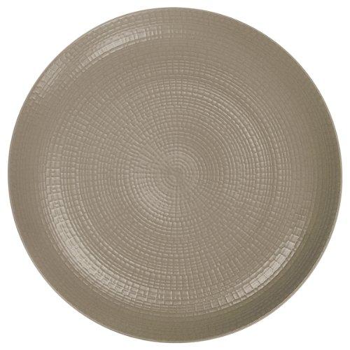 DEGRENNE - Modulo Nature Terre d'Ombre Lot de 6 assiettes plate ronde 28 cm