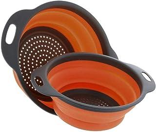 Produit extérieur Légumes Portable Seau pliant silicone pliable Passoire Fruit panier de lavage de lavage Seau extérieur P...