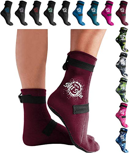 BPS High Cut & Low Cut 3mm Neoprene Socks for Water Sports & Excercise (Unisex)