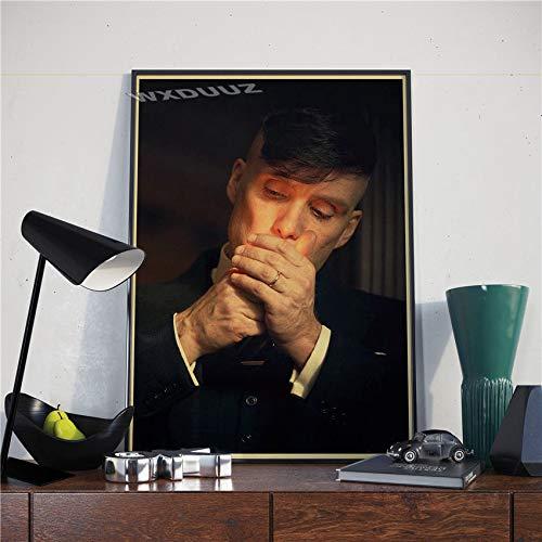 fdgdfgd Póster Retro británico de Alta puntuación, póster de Estrella de Cine del Crimen, Pintura de Pared de Calidad, póster, decoración del hogar, Pintura en Lienzo