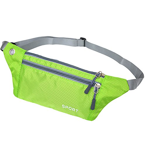 enknight Slim Design Bum bags RFID Money Belt Waterproof Running Belt Travel Hip Waist Bag Fanny Pack Secure holds iPhone 6 Plus,Tickets and Passports (Olive Drab)