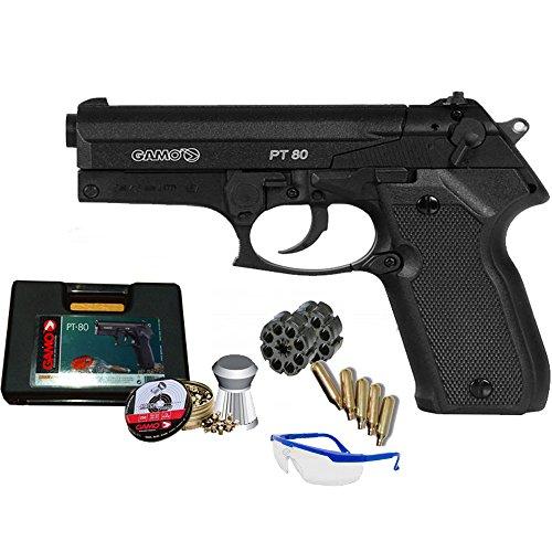 Gamo Pack Pistola PT 80 - Arma de Aire comprimido CO2 <3,5 Julios