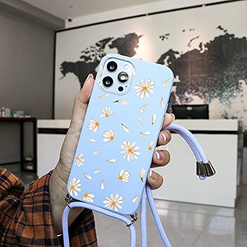 LIUYAWEI Estuche para teléfono con Cadena y cordón para el Cuello para Huawei Y6 P Smart Z 2019 P40 P10 Lite E P20 Honor 10i 8X Fundas de cordón Cruzadas Suaves y Delgadas, Kqzs, para Mate 10 Lite
