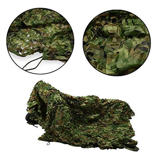 N / A Filet De Camouflage De Chasse Les Stores en Maille De Camouflage des Bois sont Parfaits pour Le Camping Auvent Tente Ombre Décoration Chambre d'enfants Style Militaire(Size:5 * 5m)