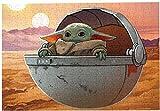 CELLYONE Rompecabezas de 1000 Piezas Sun Desert Baby Yoda Rompecabezas para Adultos Regalo de Juguete de Juego Educativo Grande (38x26cm)