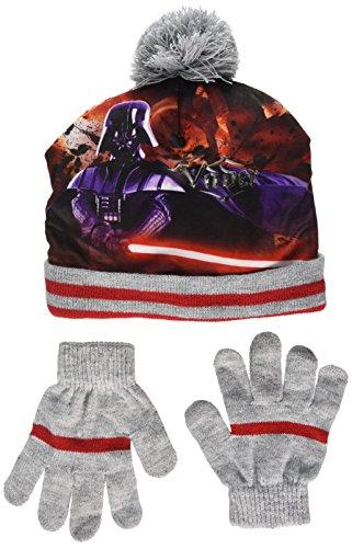 Star Wars Jungen Darth Vader Hut und Handschuh, Set, Grau (L Grey 18-1663TC), 52